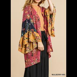 Long Bell Sleeve Kimono