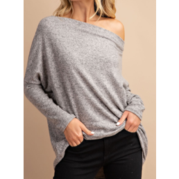 Long Dolman Sleeve Off The Shoulder Tunic