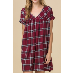 Plaid Babydoll Dress