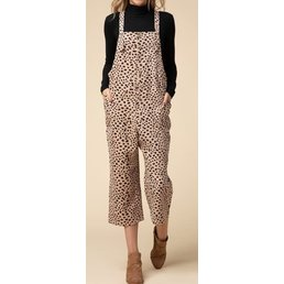 Cheetah Pinafore Jumpsuit