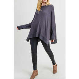Marled Oversize Top