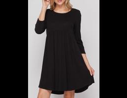 3/4 Sleeve Babydoll Dress