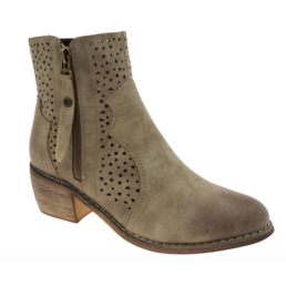Ankle Boots W/ Perforated Designs