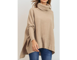 Brushed Cowl Neck Top