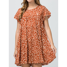 Dotted Tiered Dress
