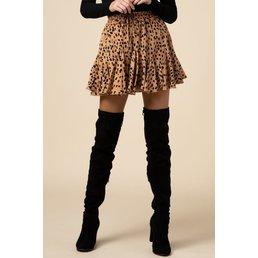 Geo Print Ruffle Skirt