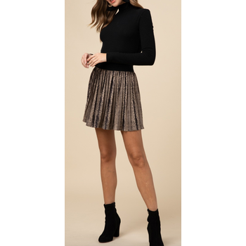 Reptile Pleated Skirt