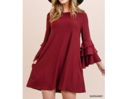 Tiered Bell Sleeve Dress