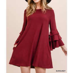 Tiered Bell Sleeve Dress