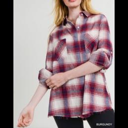 Frayed Hem Flannel