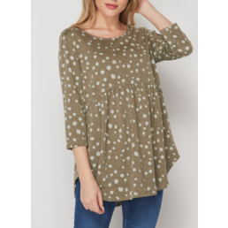 Dotted Babydoll Top
