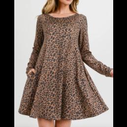 Leopard A Line Dress