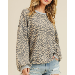 Leopard Brushed Top