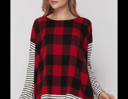 Plaid/Striped Tunic