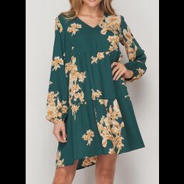 TL Tiered Floral Dress