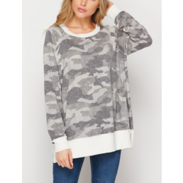 TL Camo Sweater