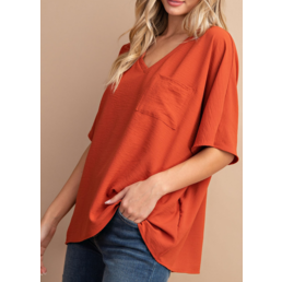 Boxy Pocket Blouse