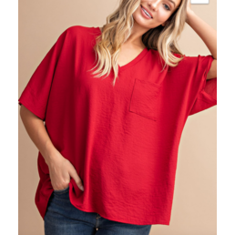 Brittney Boxy Pocket Blouse