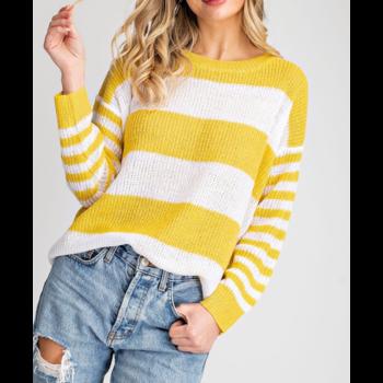Striped Purl Sweater
