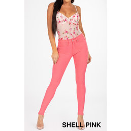 Mid-Rise 5 Pkt Skinny Jeans