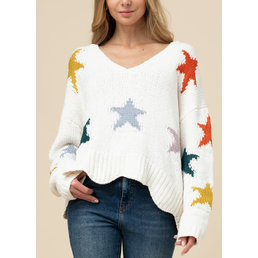 Chenille Star Sweater