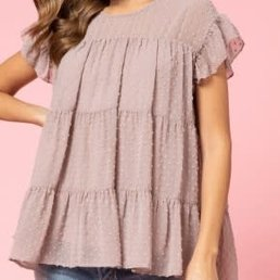 Swiss Dot Tiered Top