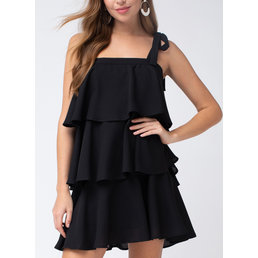Tiered Sqaure Neck Dress