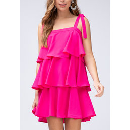 Tiered Square Neck Dress