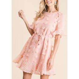 Pom Pom Texture Dress