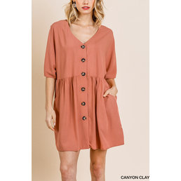 Button Front Dress