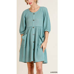 Faux Button Up Dress