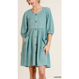 Faux Button Up Dress