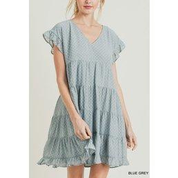 Swiss Dot Chiffon Dress