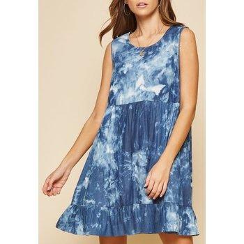 Sleeveless Tie Dye Dress