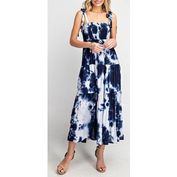 Tie Dye Smocked Maxi Dress