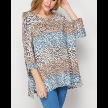 TL Leopard Hacci Knit Top