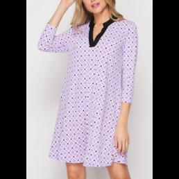 TL Floral Geo Print Dress