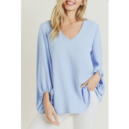 Wide V Neck Top