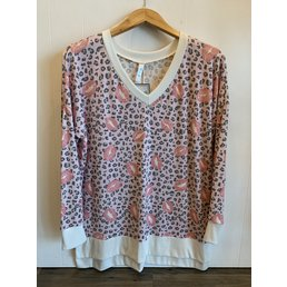 TL Leopard Kiss Print Top