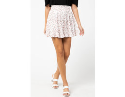 Spotted Print Ruffle Skirt