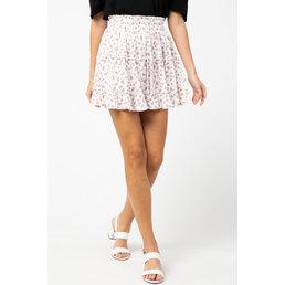 Spotted Print Ruffle Skirt