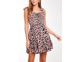 Smocked Leopard Print Dress
