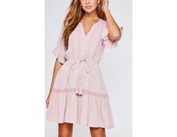 Button Up Ruffle Dress