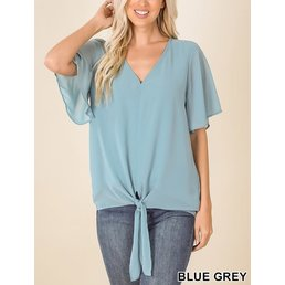 Chiffon Front Tie Top