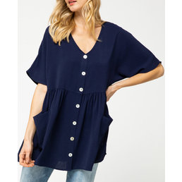 Button Up Tunic Top