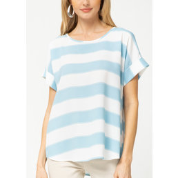 Striped Cuff Sleeve Top
