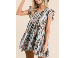 Multi Color Babydoll Dress