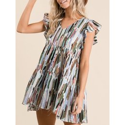 Multi Color Babydoll Dress