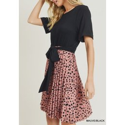 Contrast Polkadot Dress