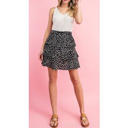 Tiered Animal Print Skirt